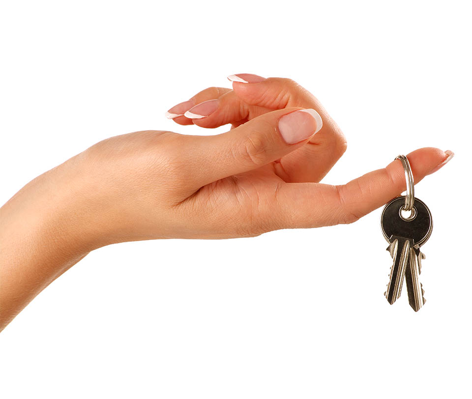 Ruka s kľúčami